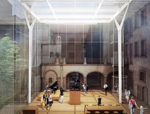 Projekt zadaszenia dziedzińca - lapidarium Muzeum Warszawy