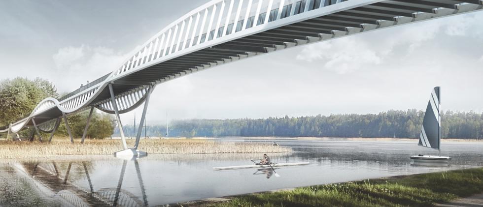 Nowa kładka w Augustowie. Konkurs architektoniczny